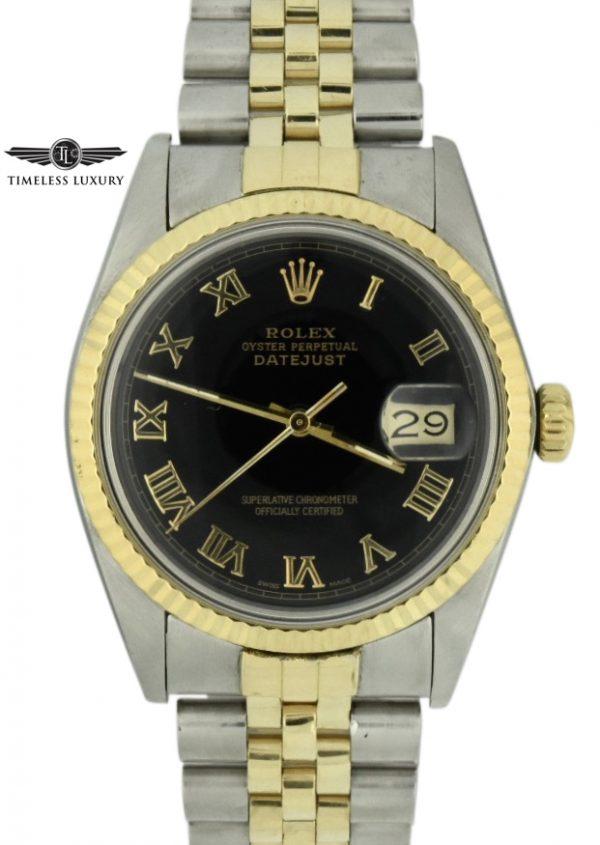 1985 rolex 16013 black dial