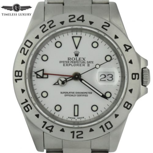 1992 Rolex Explorer II 40mm 16570 white dial