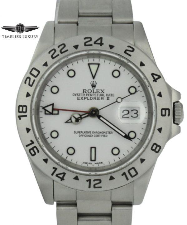 1992 Rolex Explorer II 40mm 16570 white dial