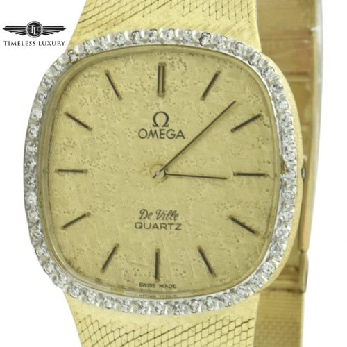 Omega deville 7150 14k gold watch