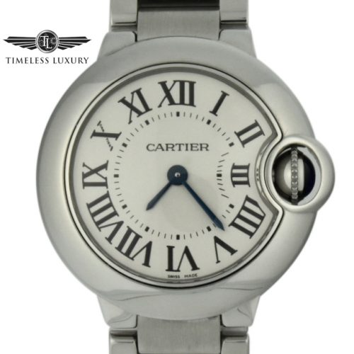 ladies cartier ballon bleu quartz 28mm 3009