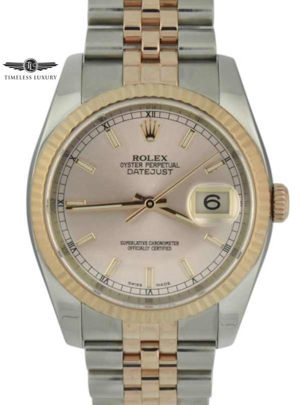 rolex datejust 36mm 116231 rose gold