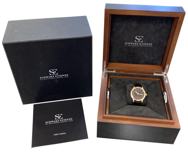mens schwarz Etienne limited edition rose gold