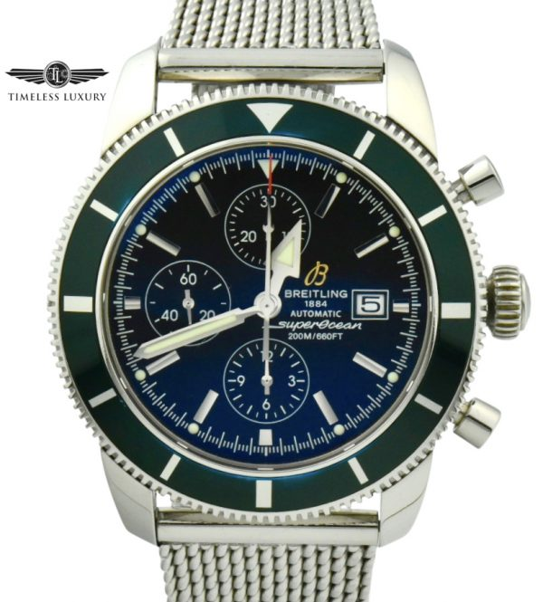 Breitling superocean heritage limited edition green bezel
