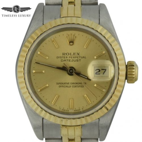 1987 ladies rolex datejust 69173 champagne dial