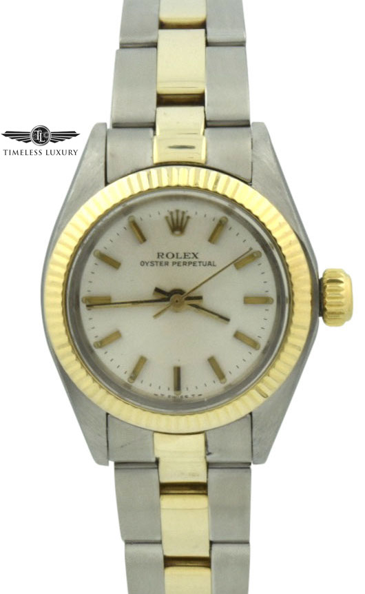 1980 ladies rolex 6719 steel & gold 26mm
