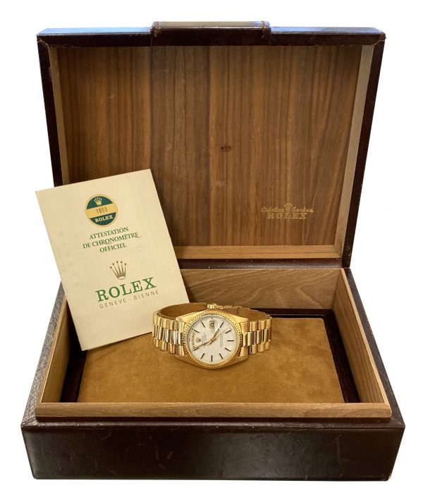 1977 rolex president 1803 box & papers for sale