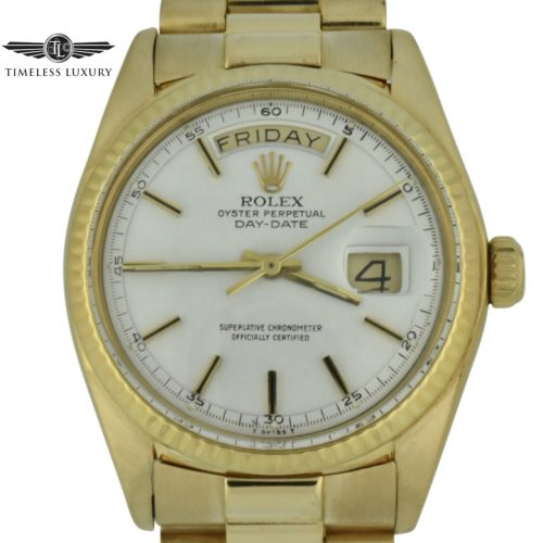1977 rolex president 1803 white dial box & papers