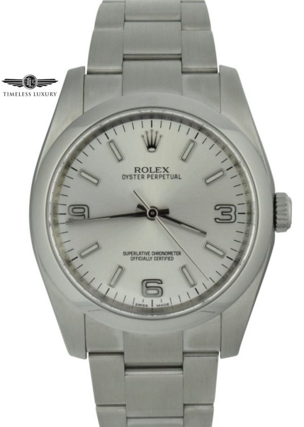 rolex oyster perpetual 36mm silver dial