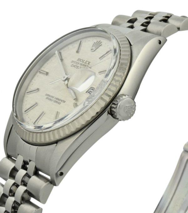 rolex datejust 16014 silver linen dial