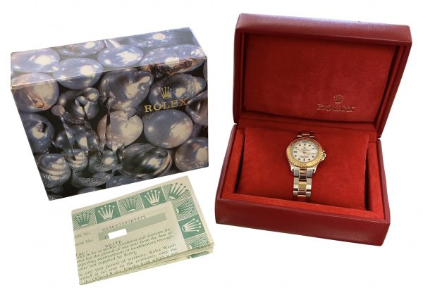 1995 ladies rolex yachtmaster 69623 29mm watch for sale