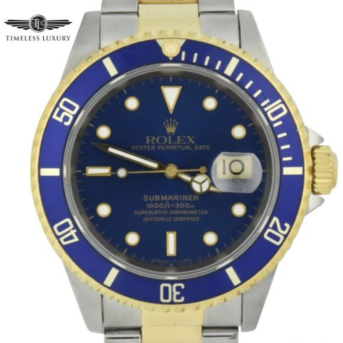 1995 Rolex submariner 16613 blue dial watch