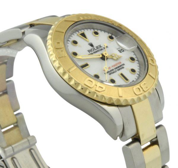 rolex yachtmaster 69623 gold bezel