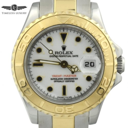 Ladies rolex yachtmaster 69623 steel & gold 29mm watch