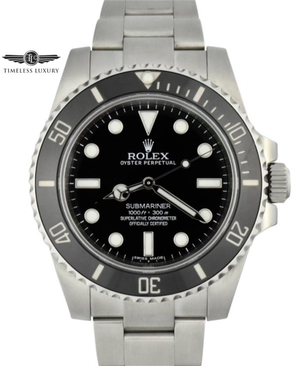 2015 rolex submariner 114060 no date for sale