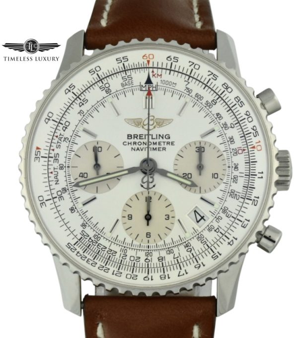 Breitling Navitimer A23322 Silver dial for sale