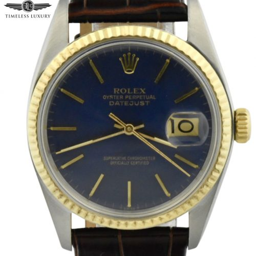 1977 rolex datejust 16013 blue dial