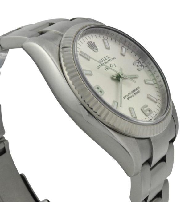 rolex air-king 114234 silver dial