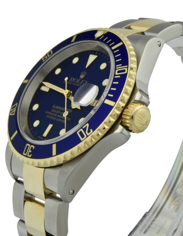 rolex submariner two tone blue