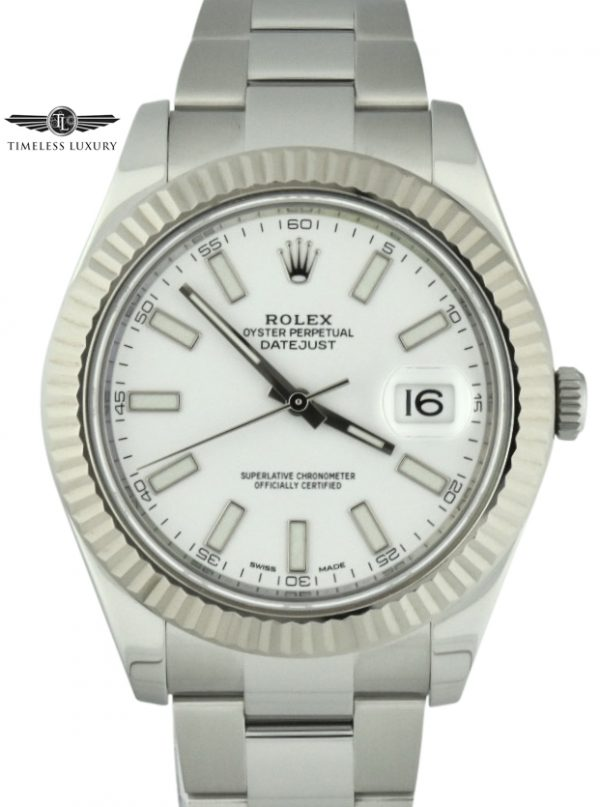 2016 rolex datejust 41mm 116334 white dial