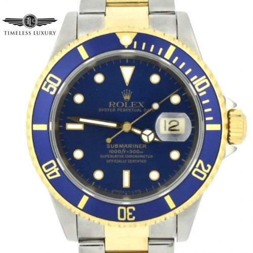 1995 Rolex submariner 16613 steel & gold blue dial