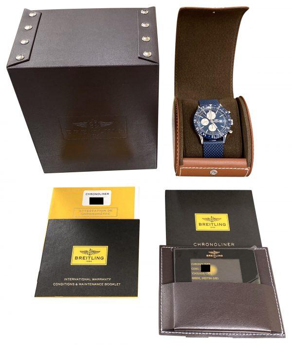 breitling chronoliner y24310 blue for sale