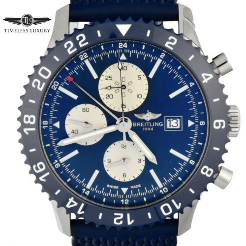 Breitling Chronoliner Y24310 Blue Dial for sale