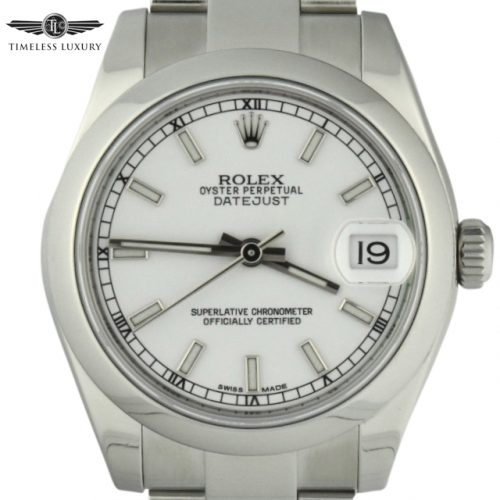Ladies rolex datejust 31mm 178240 white dial for sale