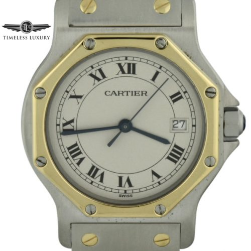 Cartier santos octagon midsize quartz watch