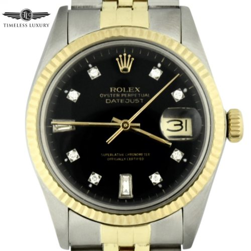 1981 rolex datejust 16013 steel & 14k gold for sale