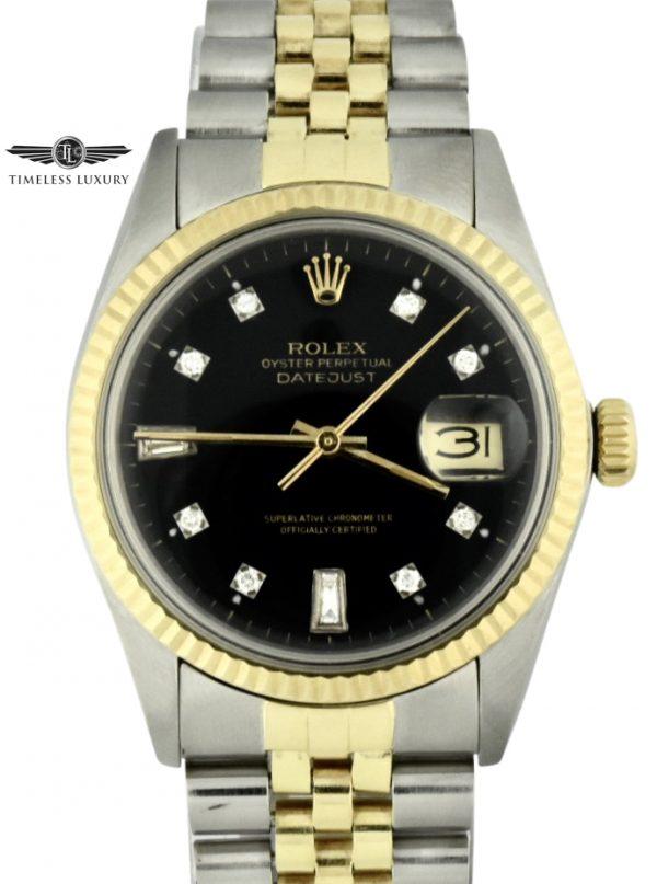 1981 rolex datejust 16013 steel & 14k gold for sale