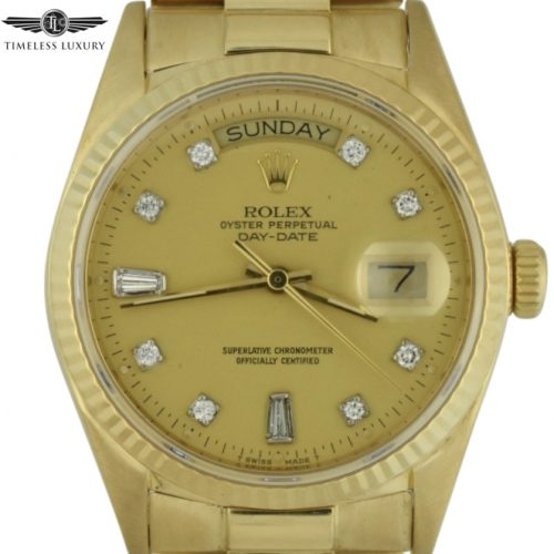 1985 Rolex day-date president 36mm 18038 diamond dial