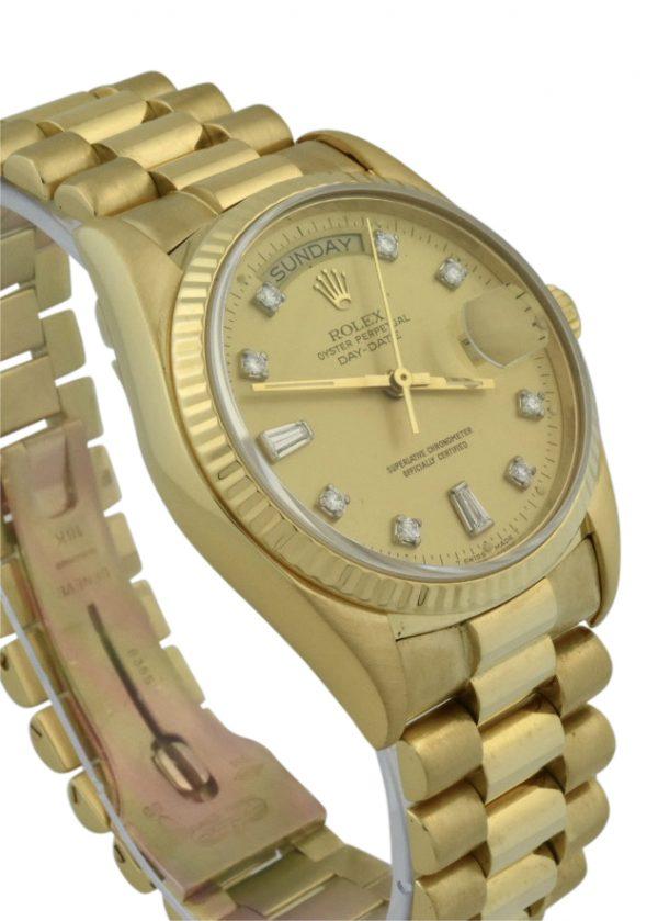 rolex president 18038 diamond dial