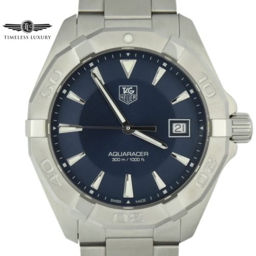 Tag heuer aquaracer WAY1112 blue dial watch