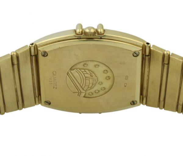 omega constellation gold case back