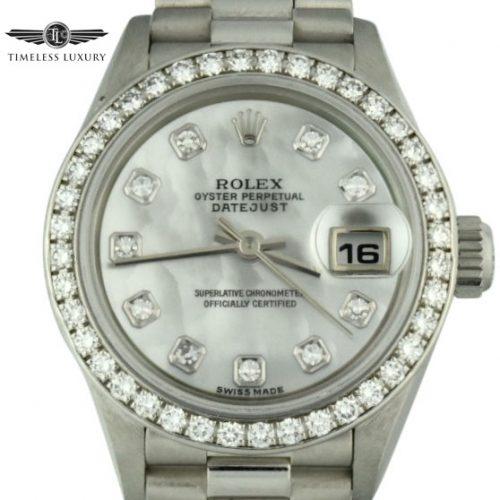 Ladies rolex platinum president 70136 for sale