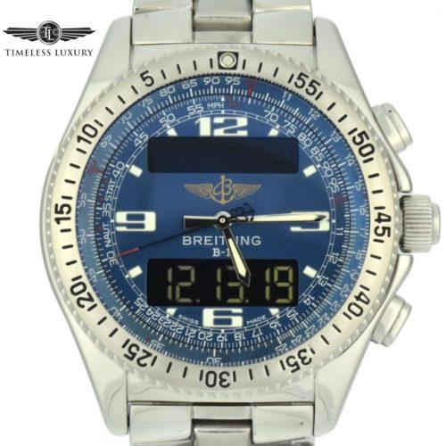 Breitling B1 a68362 blue dial watch
