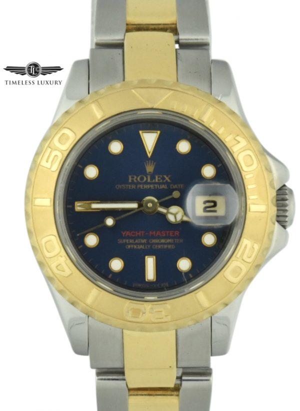 ladies rolex yacht-master 69623 blue dial