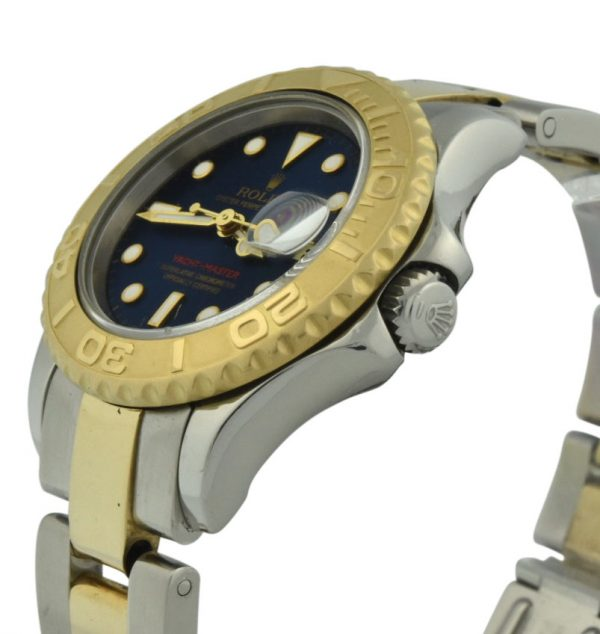 ladies rolex yachtmaster 69623 blue dial