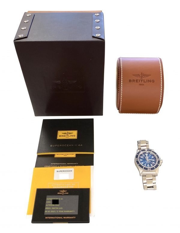 breitling superocean II A17392 blue dial for sale