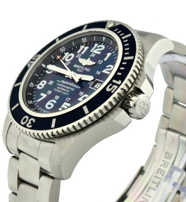 breitling superocean II blue dial