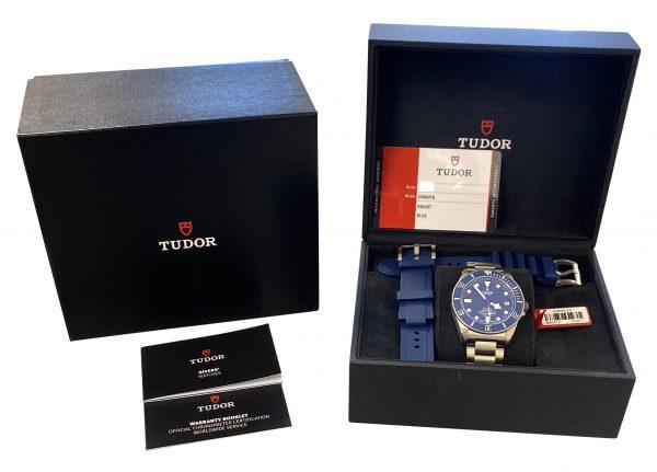 Men's Tudor Pelagos 25600TB Blue Dial Titanium Watch