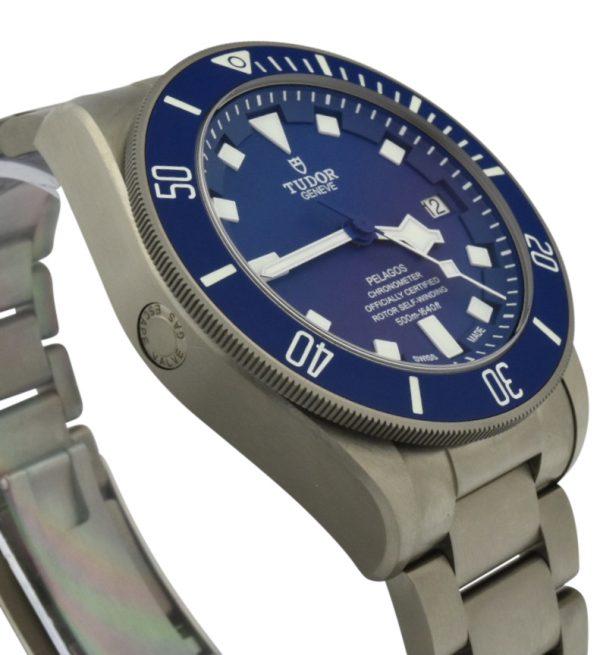 tudor pelogos 25600tb blue dial