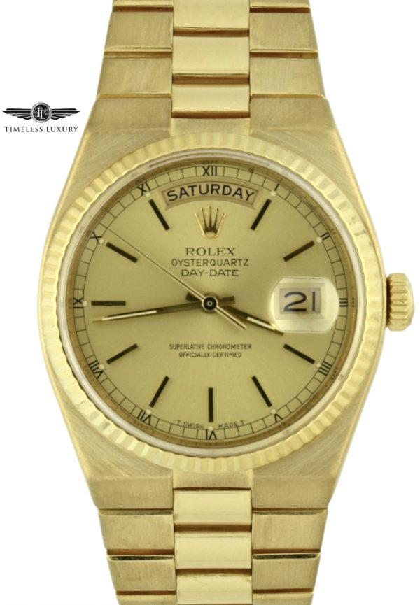 Men's Rolex Day-Date Oysterquartz 19018 president
