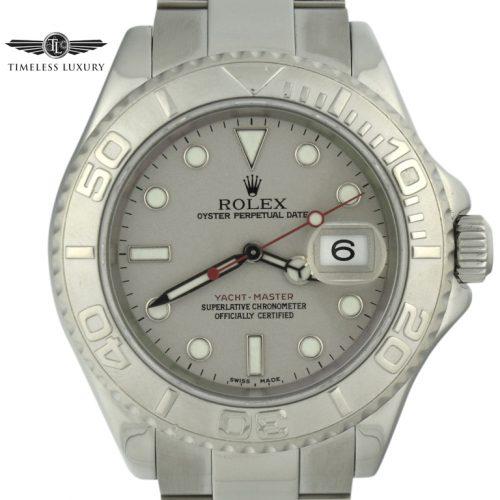 2003 Rolex Yacht-Master 16622 Platinum Bezel Watch