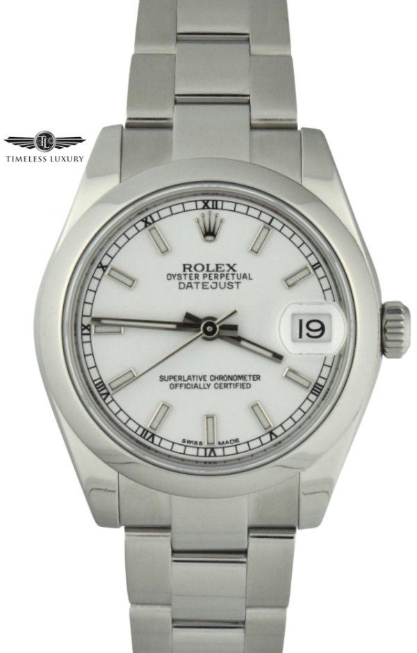 ladies rolex datejust 178240 white dial