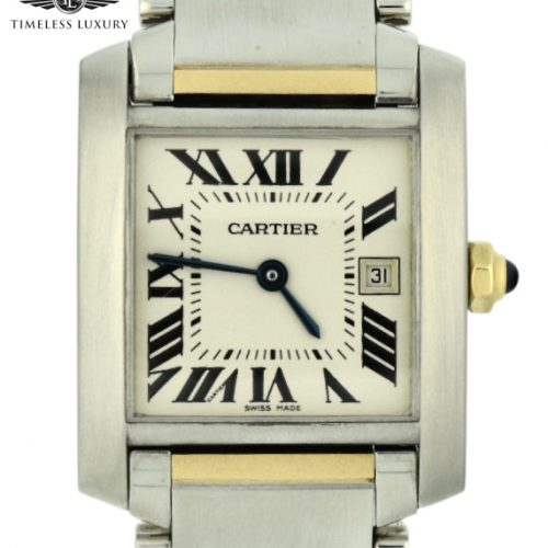 Cartier Tank Francaise 2465 steel & gold