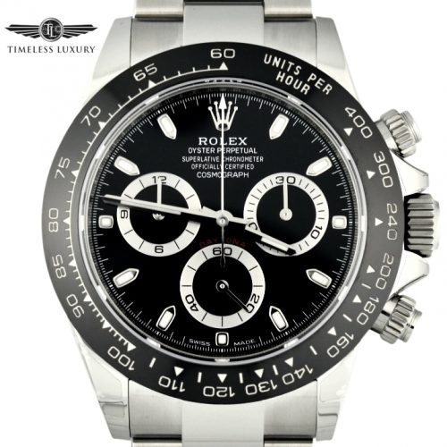 New Rolex Daytona 116500 stainless steel black dial