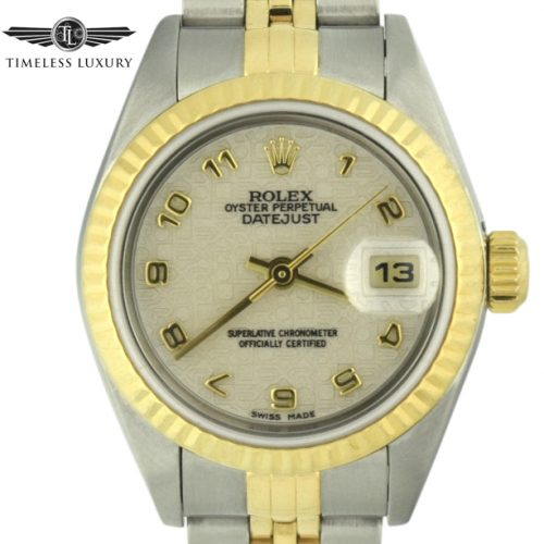 2000 Rolex datejust 79173 ivory dial