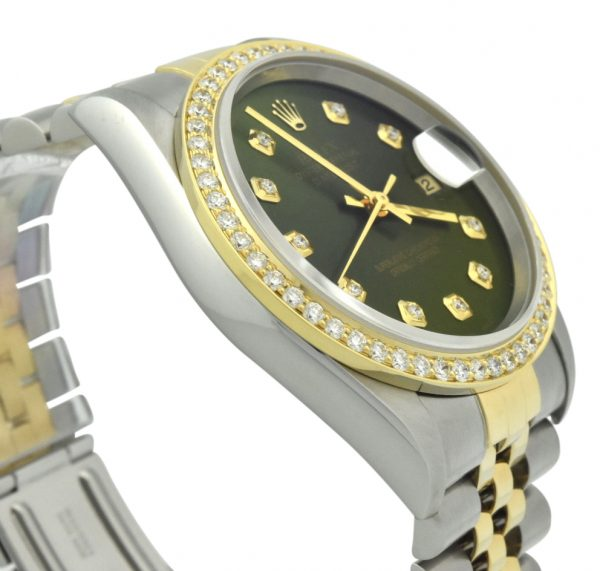 Rolex Datejust 16233 green dial